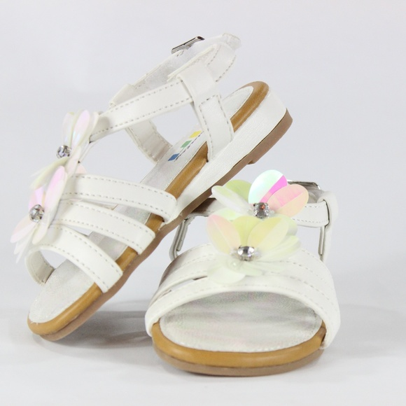 Specialty girl shoes adorable white sandals with flowers poshmark adorable white sandals with flowers mightylinksfo